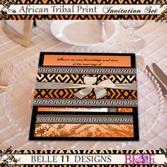 African Theme Printable Wedding Invitation By Belle11designs 20 50