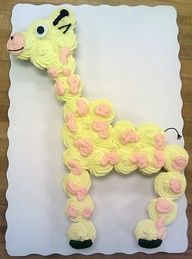 Giraffe cupcake cake- This is Krissy's favorite thing to draw. How fun would this be to surprise her with?!