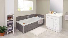 Dream Zone - - Make your bathroom better with a stylish bath tub! Bath Tub, Tiling, Bathroom Inspiration, Corner Bathtub, New Homes, Stylish, House, Bathtub, Home