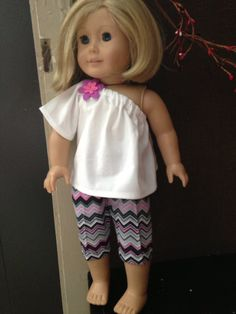 """Pink n Grey Chevron March Madness American Girl Outfit Fits 18"""" Dolls on Etsy, $5.00"""