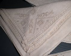 Vintage Irish linen napkins