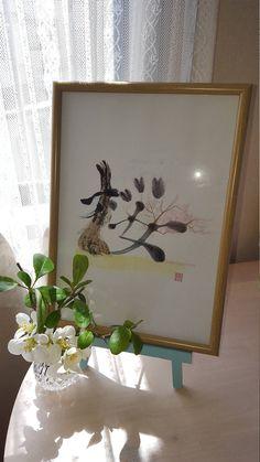 "Etsy のJapanese Kanji Art ""Sakura"" (Cherry blossom)(ショップ名:JapanKanjiART)"