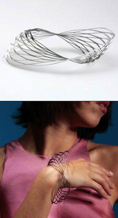 "Bracelet | Klara Sipkova. ""Stretch collection"". Stainless steel"