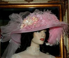 Victorian Tea Hat Somewhere in Time Hat NEW by darnasderbyhats