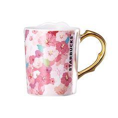 Starbucks Korea 2014 The Rose of Sharon Flower Gold Plating Limited DemiMug Starbucks Ceramic Mug, Starbucks Tumbler, Starbucks Coffee, Coffee Drinks, Coffee Cups, Rose Of Sharon, My Cup Of Tea, I Love Coffee, Cute Mugs