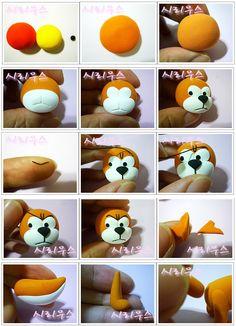 Turorial : How to make The cat in The Smurfs polymer clay / Tutoriel : Réaliser Azraël, le chat de Gargamel ( Les Schtroumpfs ) en pâte polymère source : http://blog.naver.com/PostThumbnailView.nhn?blogId=dotory798&logNo=100065471363&categoryNo=0&par...