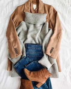 & Grant - Neutral layers - Outfits for Work : Lilly & Grant - Neutral layers Lilly & Grant - Neutral layers - Outfits for Work : Lilly & Grant - Neutral layers Winter Outfits For Teen Girls, Winter Outfits For Work, Fall Outfits, Casual Outfits, Cute Outfits, Striped Outfits, Summer Outfits, Look Fashion, Fashion Outfits