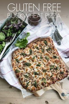 Gluten Free Buckwheat Pizza - AO Life -- olive oil 1 cups buckwheat flour C? Bake at For 20 mins. Gf Recipes, Dairy Free Recipes, Whole Food Recipes, Vegetarian Recipes, Cooking Recipes, Healthy Recipes, Tuna Recipes, Freezer Recipes, Skillet Recipes