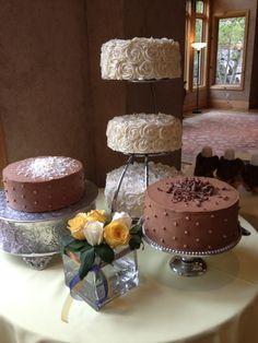 Rose Wedding Cakes white and chocolate - Rose Wedding Cakes white and chocolate