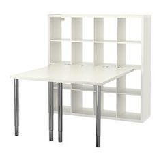 KALLAX Workstation - white - IKEA This would be great for a cutting/crafting table.