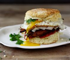 Kentucky hot brown on a biscuit- leftover turkey recipes