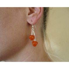 Items similar to Chandelier double handmade jewelry earring with orange stone and metal details. on Etsy Orange Stone, My Birthstone, Birthstones, Handmade Jewelry, Drop Earrings, Detail, Silver, Stuff To Buy, Accessories