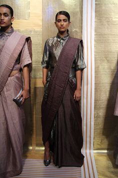 Anavila at Lakmé Fashion Week winter/festive 2016 Saree Draping Styles, Saree Styles, Lakme Fashion Week, Fashion Weeks, Indian Designer Outfits, Indian Outfits, Saree Trends, F 16, Indian Couture