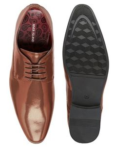Enlarge River Island Smart Shoes in Metallic Bronze