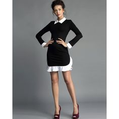 Long sleeve french maid dress