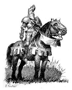 Du Guesclin - Pierre Joubert Medieval Knight, Medieval Armor, Medieval Fantasy, Dark Fantasy, Fantasy Art, Norman Rockwell, Canterbury, Norman Knight, Chivalry