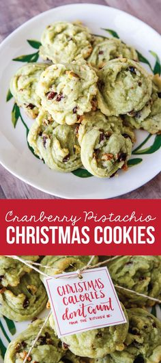 Amazing Christmas Cookies that are super easy to make.  We love these Cranberry Pistachio Cookies so much!  from www.thirtyhandmadedays.com