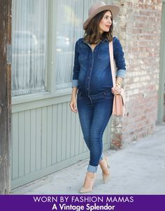 Stretch Denim Maternity Jumpsuit | Seraphine >>> www,seraphine.com | Summer style | blogger maternity style | maternity clothes | maternity style | mom to be | maternity fashion | baby on board!