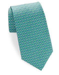 Brooks Brothers Classic Patterned Silk Tie Men's Green