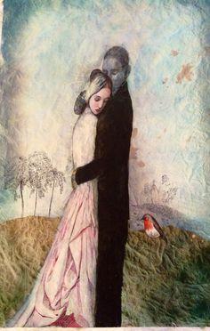 Katarína Vavrová/ painting on japan paper/ love
