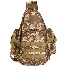"Molle Military 14"" Laptop Chest Bag Camouflage Tactical Backpack Army Marines Navy Seal Camo Combat"