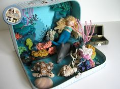 "Adorable crocheted mermaid ""house""."