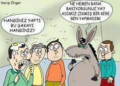 Eşek Şakası Karikatürü Vacip Örger