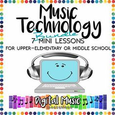 Music Technology Bundle: 7 Mini-Lessons for Garag Music Classroom, Classroom Ideas, Classroom Resources, Learning Resources, Elementary Music Lessons, Elementary Education, Steam School, Middle School Music, Music Education