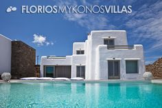 The outdoor surrounding the property is very spacious featuring a dining area with wood fire BBQ, private pool and a sun bathing area with fabulous views. FMV1414 Villa for Rent on Mykonos island, Greece. http://florios-mykonos-villas.com/property/fmv1414/