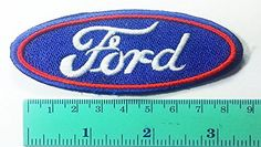 3 Patch Blue Ford Racing Sport Automobile Car Motorsport Racing Logo Patch Sew Iron on Jacket Cap Vest Badge Sign