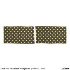 Gold Star with Black Background Pillow Cases Available on many products! Hit the 'available on' tab near the product description to see them all! Thanks for looking!  @zazzle #art #star #pattern #shop #home #decor #bathroom #bedroom #bath #bed #duvet #cover #shower #curtain #pillow #case #apartment #decorate #accessory #accessories #fashion #style #women #men #shopping #buy #sale #gift #idea #fun #sweet #cool #neat #modern #chic #navy #blue #black #orange #grey #gray #yellow #gold #purple
