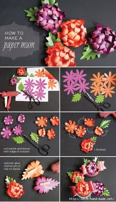 Flores de Papel. Tutorial
