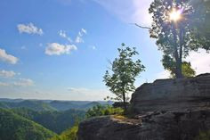 """The beautiful mountains of East Kentucky in the spring. This area is called """" The Rock"""" and it is in Knott County."""