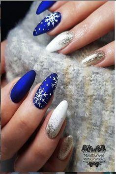 Holiday Acrylic Nails, Christmas Gel Nails, Christmas Nail Art Designs, Winter Nail Designs, Best Acrylic Nails, Christmas Holiday, Holiday Nails, Christmas Makeup, Nagellack Design