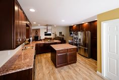 Tile that gives the appearance of wood allows more flexibility even in wet areas.