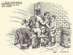 """Robert Crumb - 1986 From """"R. CRUMB - Miettes"""" - Editions du Seuil Paris 2001 Robert Crumb, Comic Books Art, Comic Art, Fritz The Cat, Jordi Bernet, Alternative Comics, Comic Drawing, Classic Cartoons, Conceptual Art"""