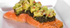 Slow-Roasted Salmon with Avocado Salad