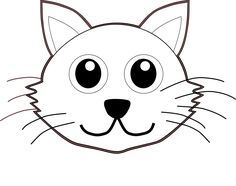 Cat Face Coloring Page Cats Storytime Pinterest Cat face