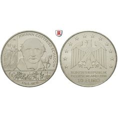 Bundesrepublik Deutschland, 10 Euro 2014, J. Gottfried Schadow, A, bfr.: 10 Euro 2014 A. J. Gottfried Schadow. bankfrisch 14,50€ #coins