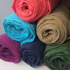 Baumwolle rein - Bio Baumwoll-Mull (GOTS) handgefärbt Meterware - ein Designerstück von fraeulein-klee-berlin bei DaWanda