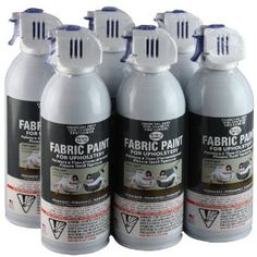 Simply Spray Upholstery Fabric Spray Paint 6 Pack Charcoal Grey  omg for $59.04 I could have a brand new (well ish) looking couch!