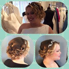 Wedding hair  bridal hair  wedding updo  bridal updo hair by Rochelle Noone Pittsburgh stylist