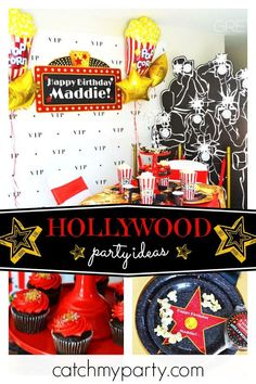05af9cb253c1c Feel like a true star at this Hollywood birthday party! The table setting  are fabulous
