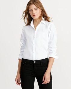 Cotton Poplin Shirt - Lauren Long-Sleeve - RalphLauren.com