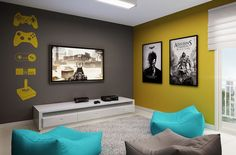 Geek Decor, Home Design Decor, Home Decor, White Light, Game Room, House Plans, Gallery Wall, The Originals, Architecture