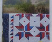 4th of July SALE - Pattern~Stars from Stripes~Quilt Pattern, Patriotic~ 2 and One Half Strips~ Cozy Quilt~Fast Shipping PT161