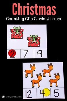 Clip cards are versatile and these Christmas counting clip cards are no exception! Clip cards can help with fine motor skills and number recognition.