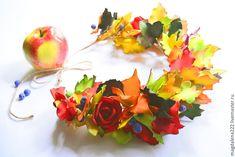 Создаем яркий венок из фоамирана «Краски осени» - Ярмарка Мастеров - ручная работа, handmade