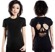 diy skull top (a favourite gothic punk clothes repin of VIP Fashion Australia )