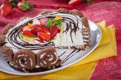 Receita de Semifrio de natas e chocolate. Descubra como cozinhar Semifrio de natas e chocolate de maneira prática e deliciosa com a Teleculinária!